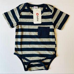 🛑 PATPAT Baby Boy Striped Bodysuit Size 6-9 M